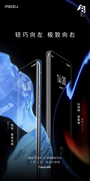Meizu 18 and Meizu 18 Pro, Features and Prices Announced